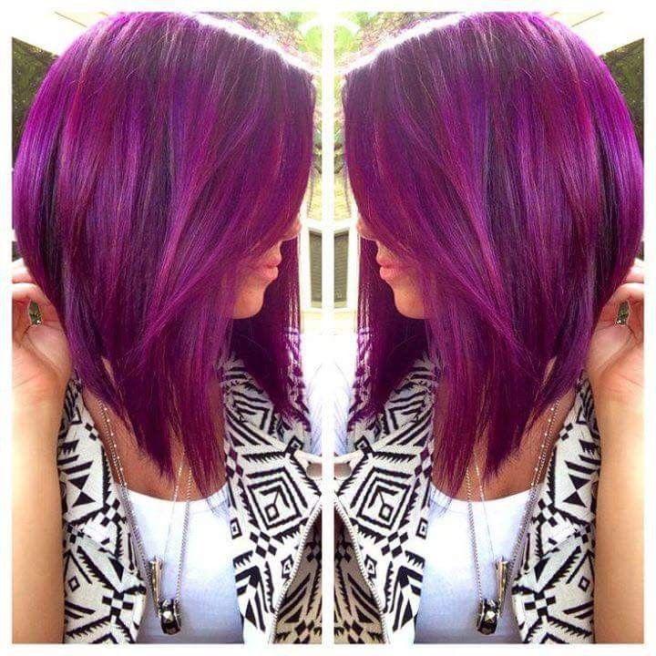 Carré plongeant violet   Cheveux magnifiques, Coiffure, Coupe de cheveux