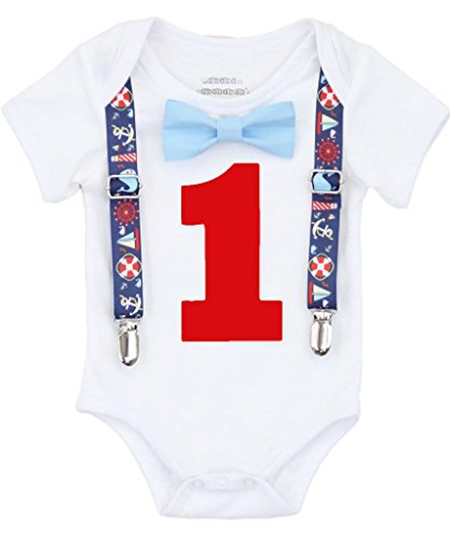 0a64dfd61 Noah's Boytique Baby Boys Nautical Whales First Birthday Outfit (12-18  Months) - Brought to you by Avarsha.com
