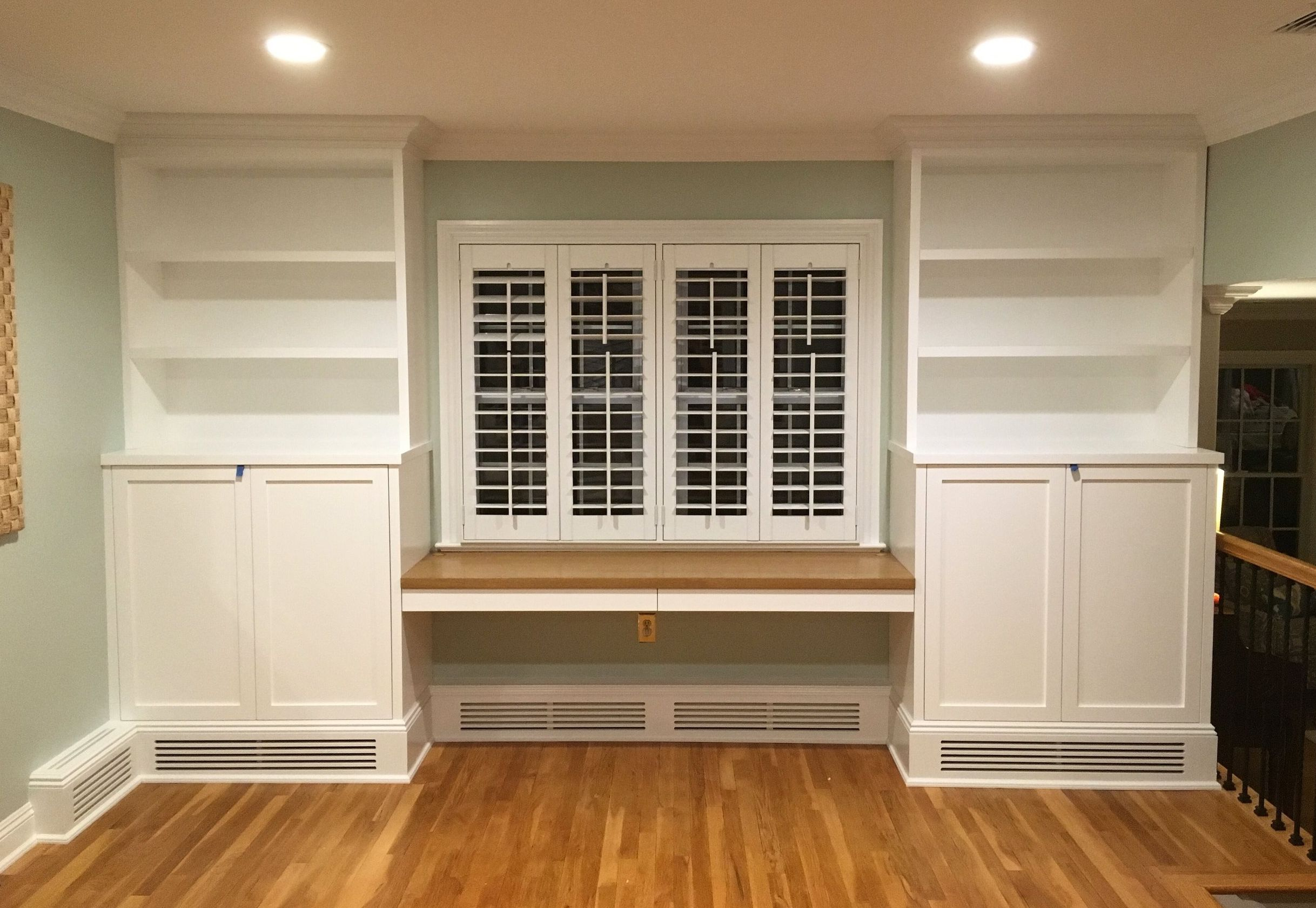 gallery — Fine Point Baseboard heating, Built in shelves