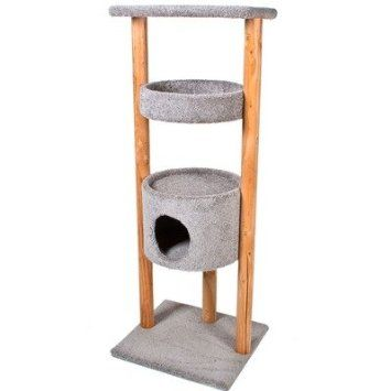 Amazon Com Ware Mfg 1085 73 Kitty Watchtower Cat Tree Color Grey Pet Supplies Our Kitties Would Love A Watchtower Wish Cat Tree Kitty Scratched Wood