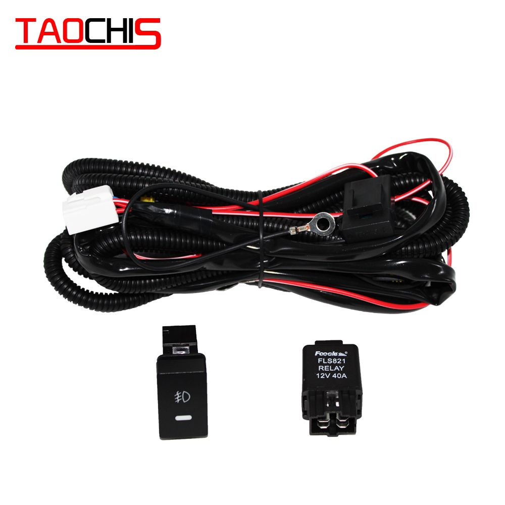 40a H11 35w 55w 5 Pins On Off Button Switch Relay Fog Light Wiring Harness Cable Fuses For Honda Wire Switch Honda Fit Accesorries