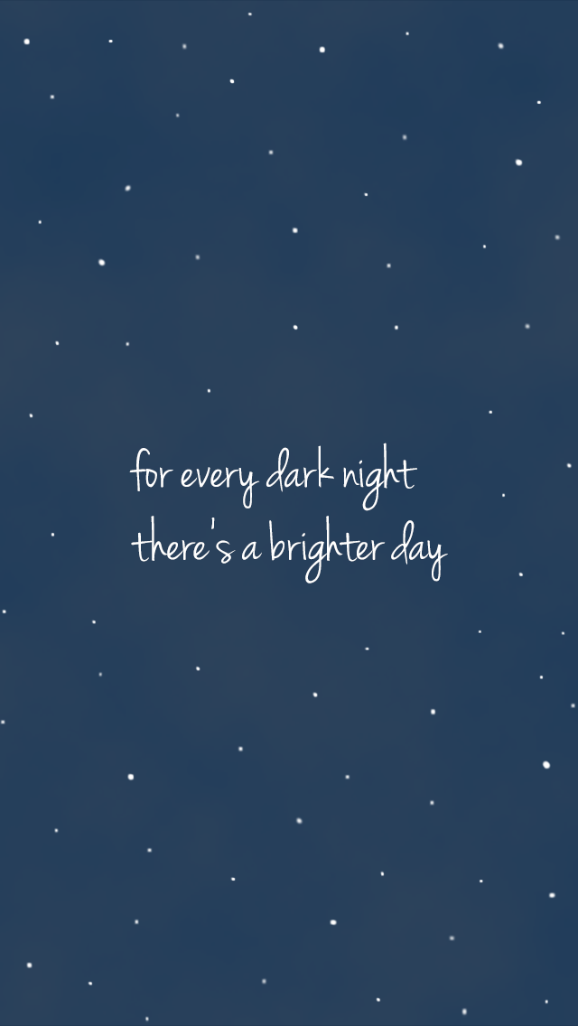 Midnight Navy Blue Stars Sky Brighter Day Iphone Background Lock Screen Phone Wallpaper Frases Inspiradoras Fondos De Pantallla Fondos Para Cel