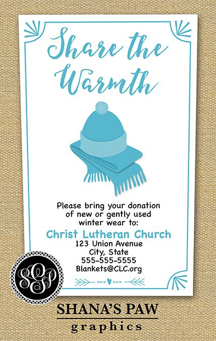 Use This Colorful ShanaspawCom Winter Clothing Drive Flyer Design