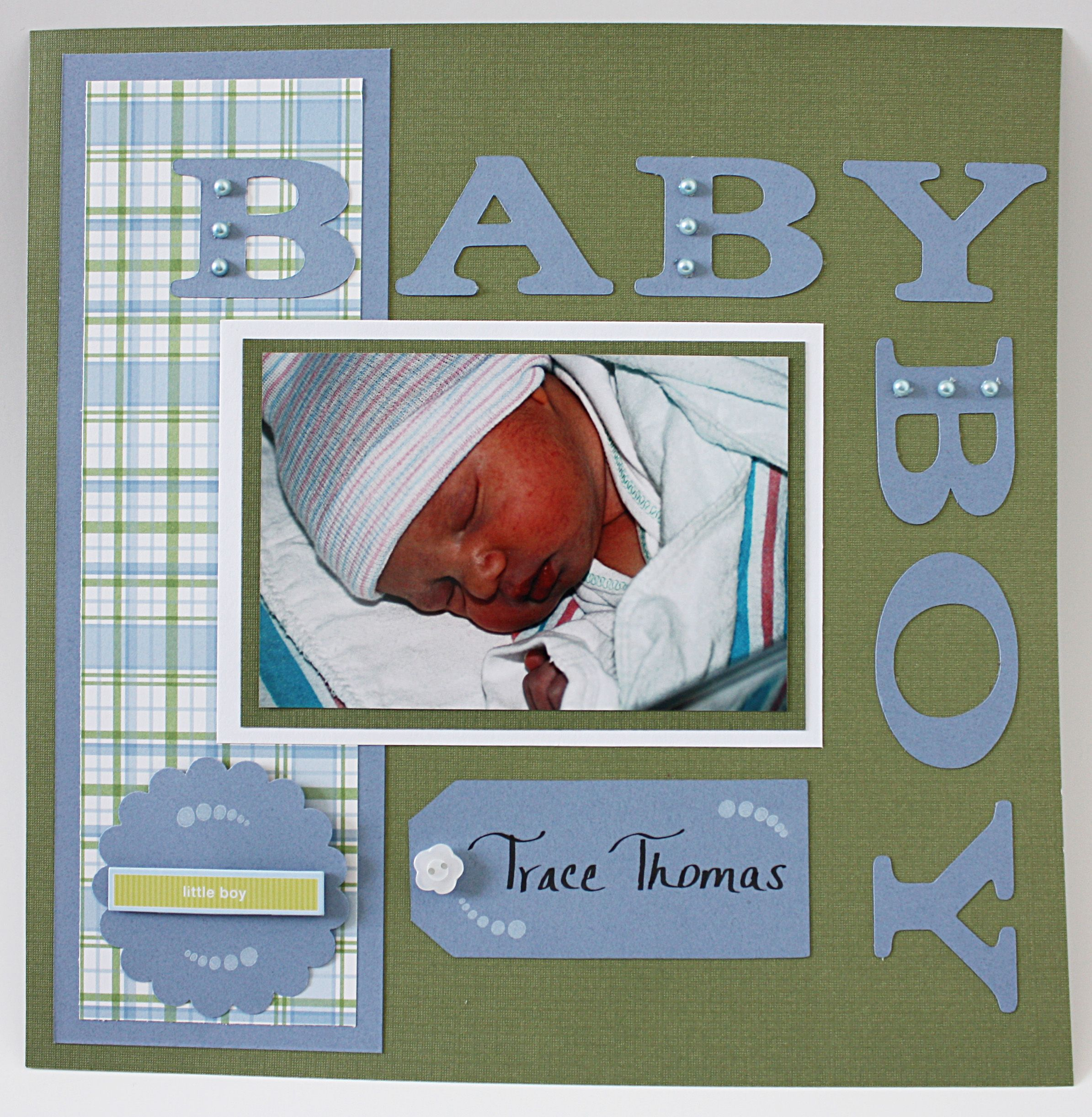 Traces Baby Book Scrapbook Baby Scrapbook Pinterest