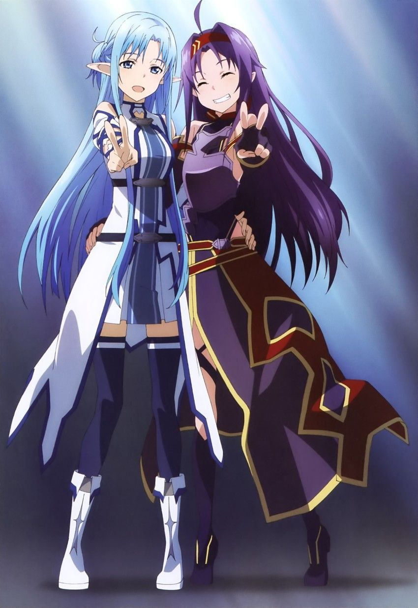 Sword Art Online, Asuna & Yuuki, official art Sword art