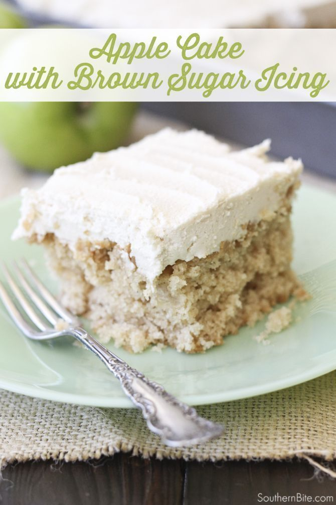 Easy Apple Sheet Cake with Brown Sugar Icing - Southern Bite