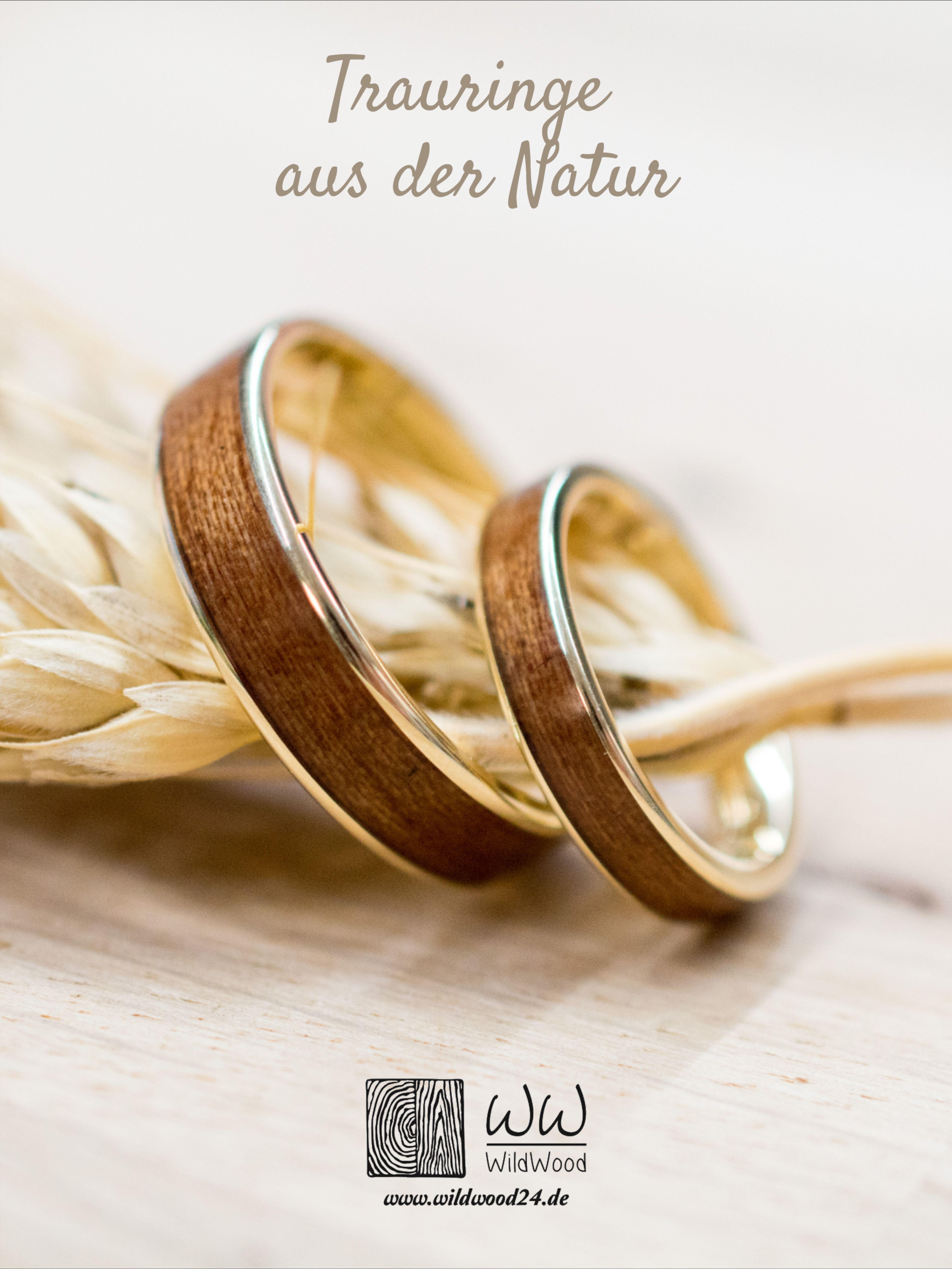 Trauringset Verlobungsringe Ringset Mit Holz Bentwood Eheringe Gold Roségold Silber Platin Palladium Ehering Holz Ring Verlobung Holz Verlobungsring