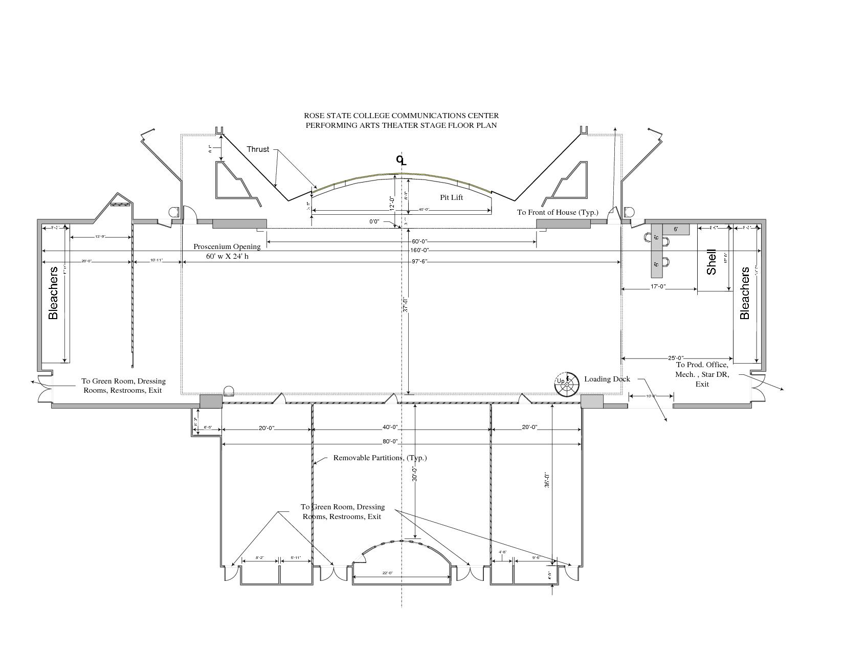 Floor Plan Template For Theatre  VisioStage Floor Plan Smvsd