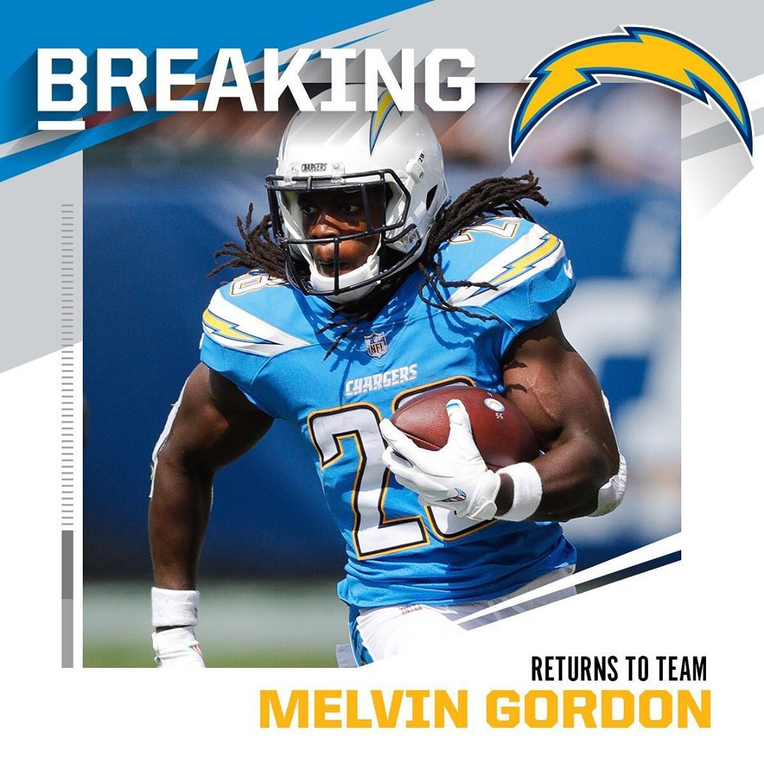 Nfl Breaking Chargers Rb Melvin Gordon Ending Holdout Will Report To Team Thursd Best Nba Players Nfl Teams