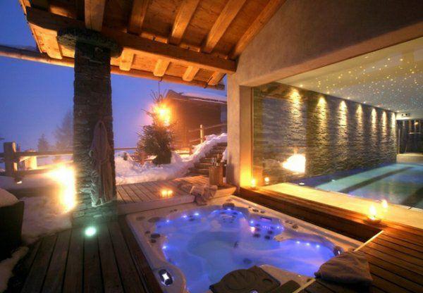 Chalet rustique  75 idées du0027aménagement avec style Cabin fever - location chalet avec piscine interieure