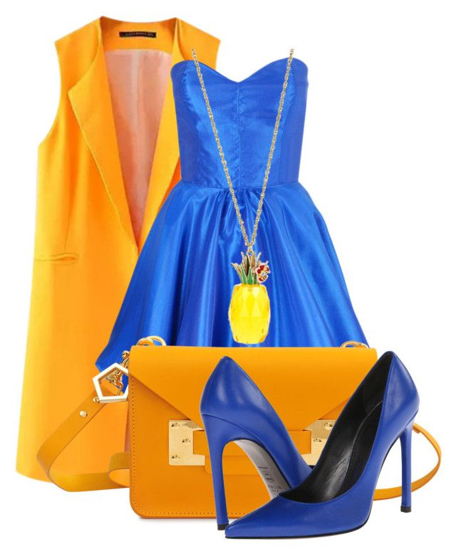 """""""The blue dress!"""" by styleiconscloset ❤ liked on Polyvore"""