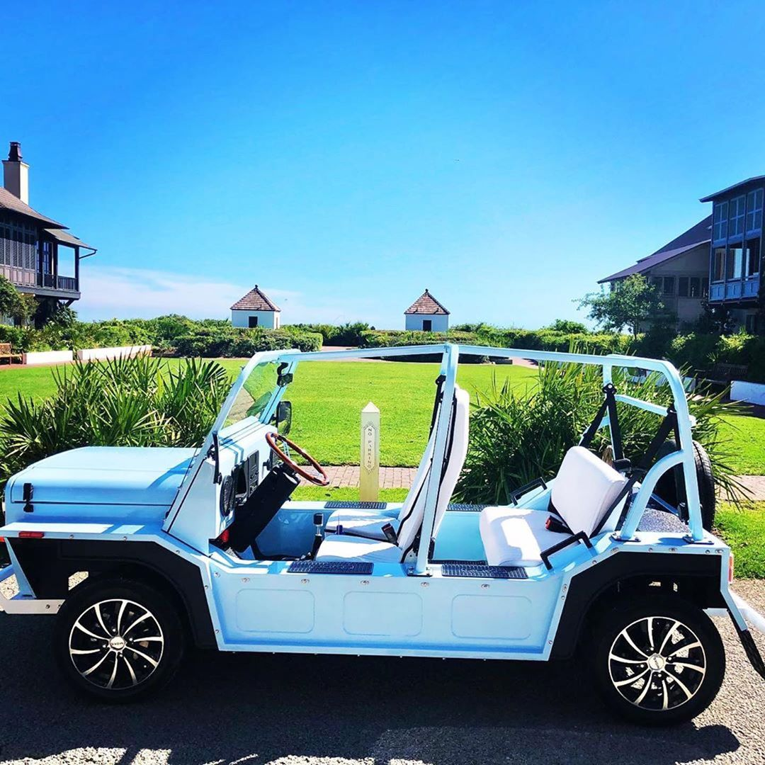 """Moke America on Instagram: """"50 shades of blue! 🚙💨 #MokeAmerica #ElectricCar #MondayMotivation #WeDeliver #StayLocal"""""""
