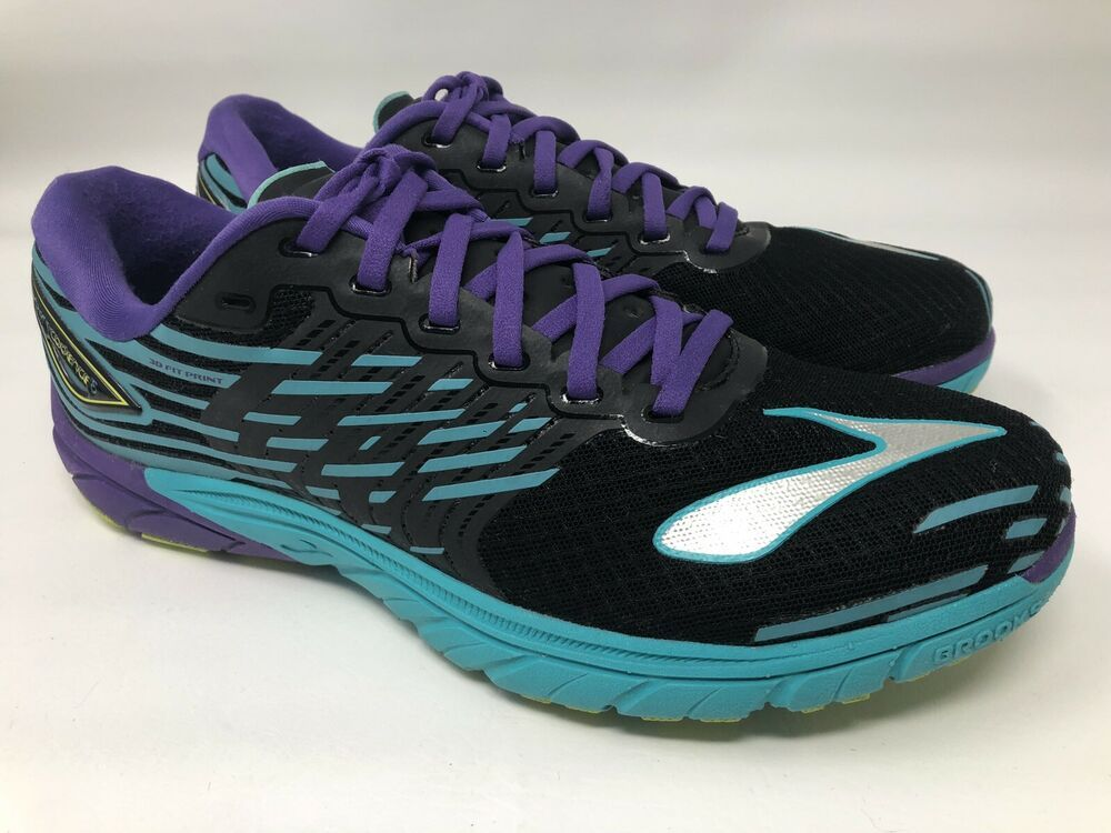 hot sale online 5370b db2a5 Brooks Womens Shoes Size 11 Pure Cadence 5 Running Athletic Sneaker Black  Purple  Brooks