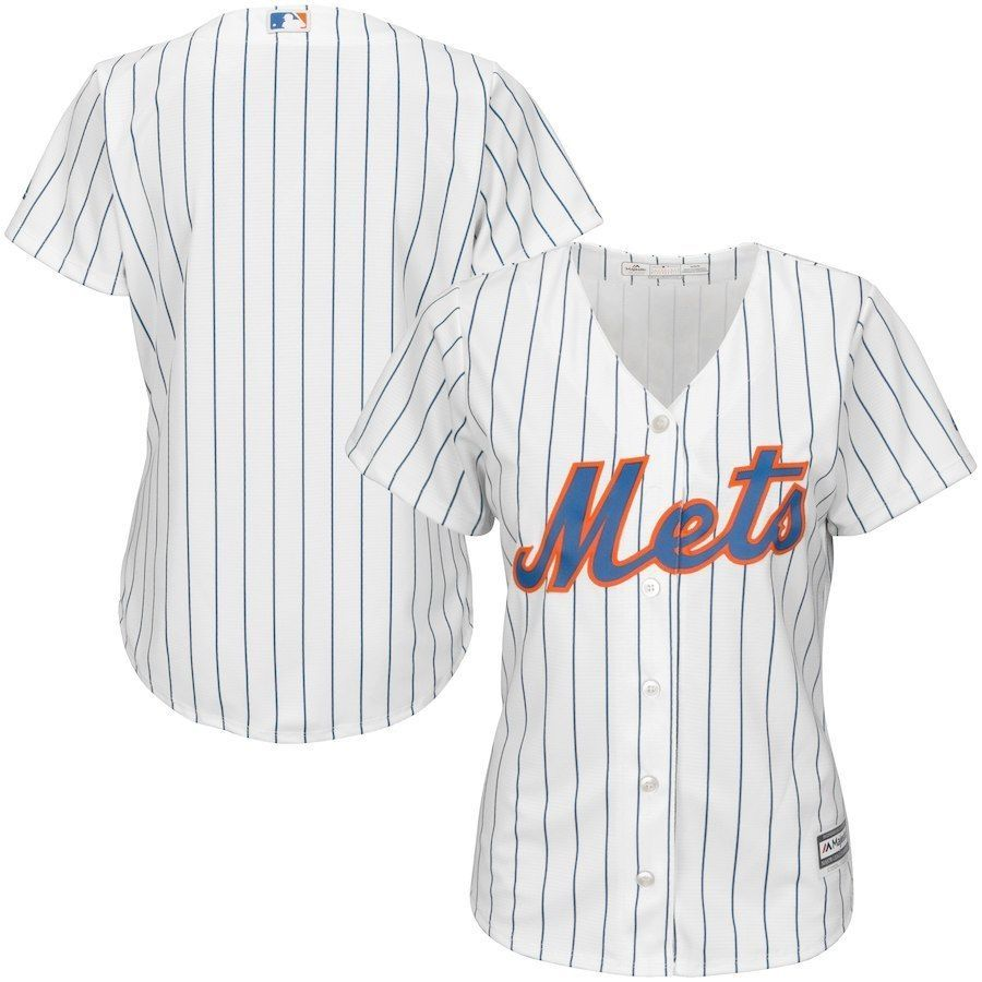 1bf288ee498 NEW Women s New York Mets Majestic White Home Cool Base Jersey LG (eBay  Link)