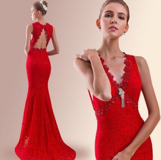 df77dbf03231d Kırmızı Abiye Elbise Modelleri - Kırmızı Abiye Modası 2018 - Aktif Moda