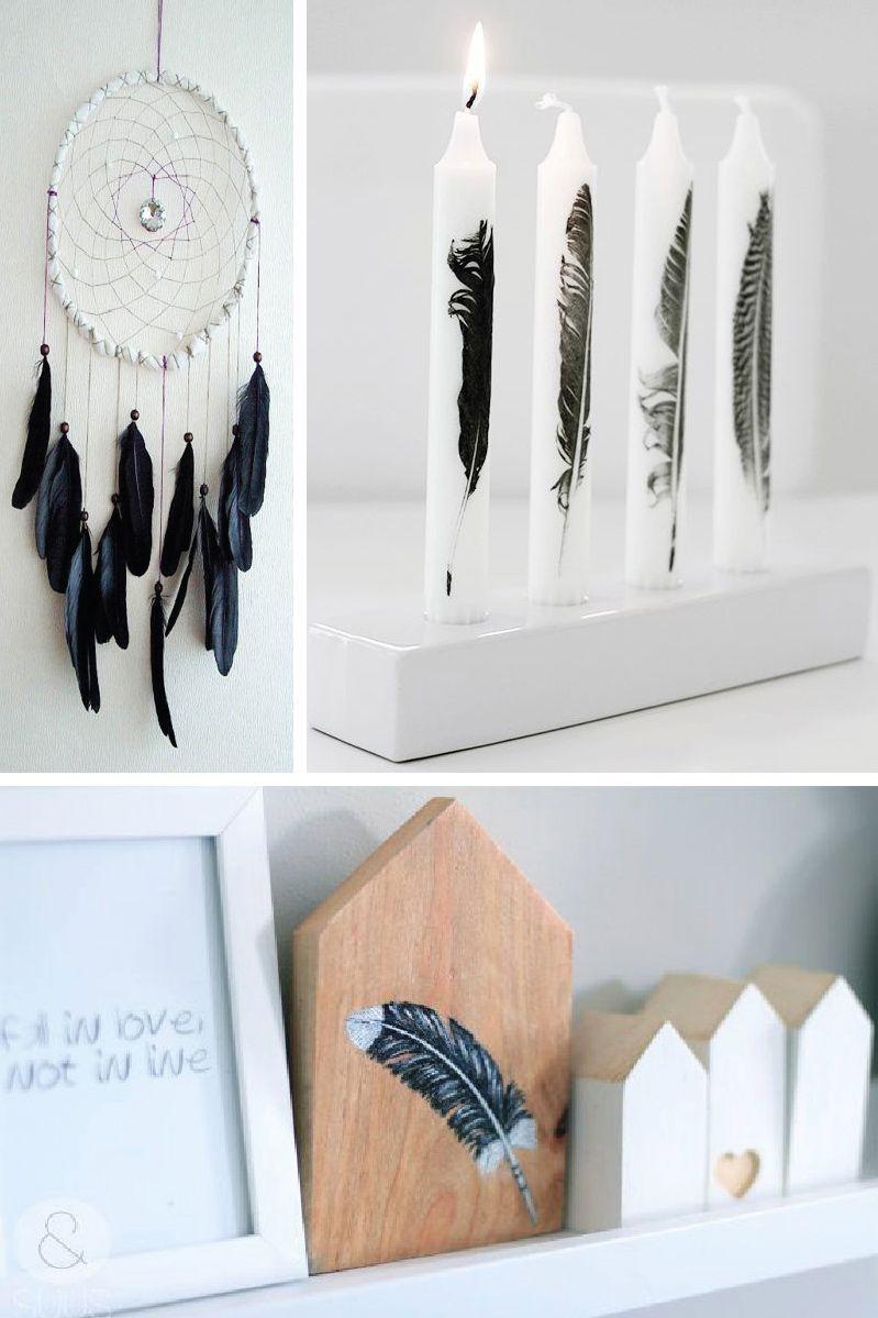 idées décor original; comment décorer avec plumes; idées déco