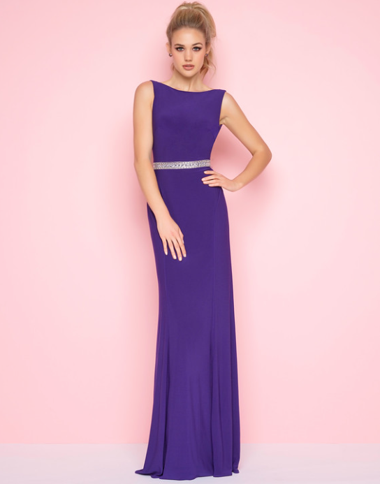 Purple long dress, prom dress, bridesmaid dress, elegant dress ...