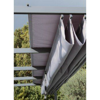 Toile polyester Anet/niagara gris l.282 x L.400 cm NATERIAL ...