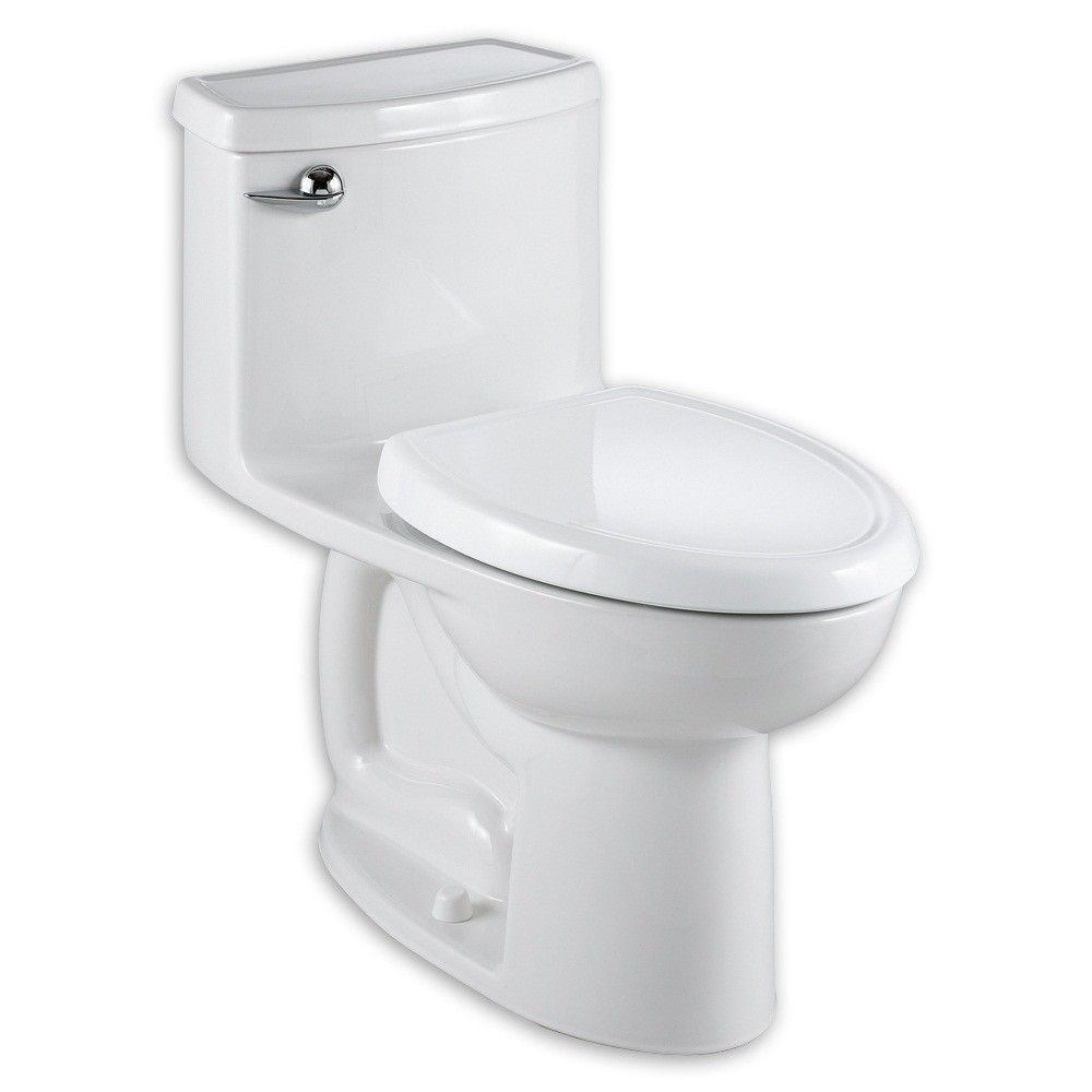 Cadet Compact 3 Flowise 1.28 GPF Elongated 1 Piece Toilet with Seat ...