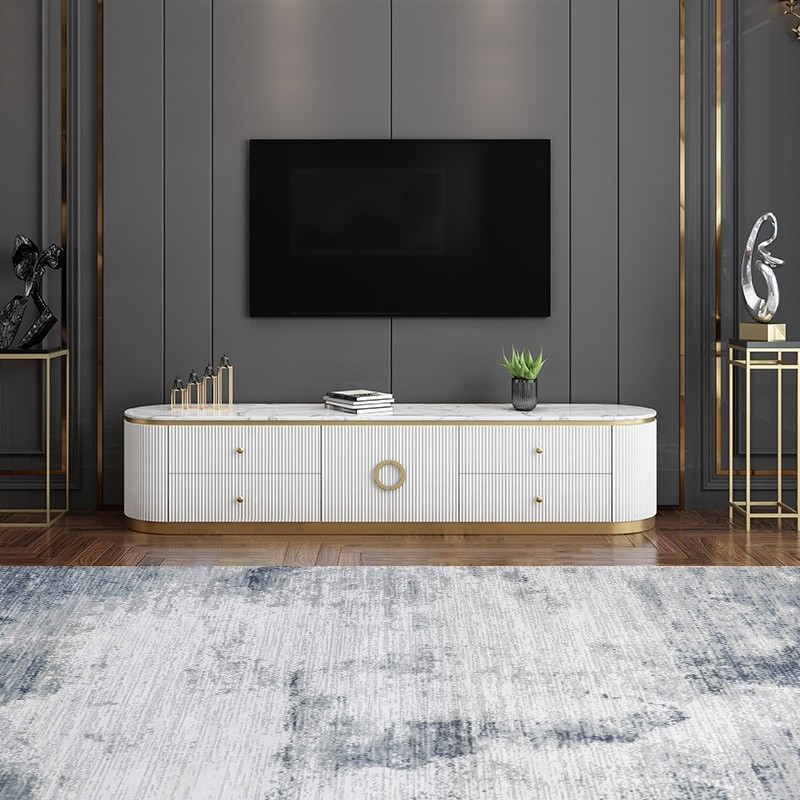 Modern White Long 86 Inch Tv Stand With 4 Drawers Living Room Tv Unit Designs Wall Tv Unit Design Living Room Tv Unit