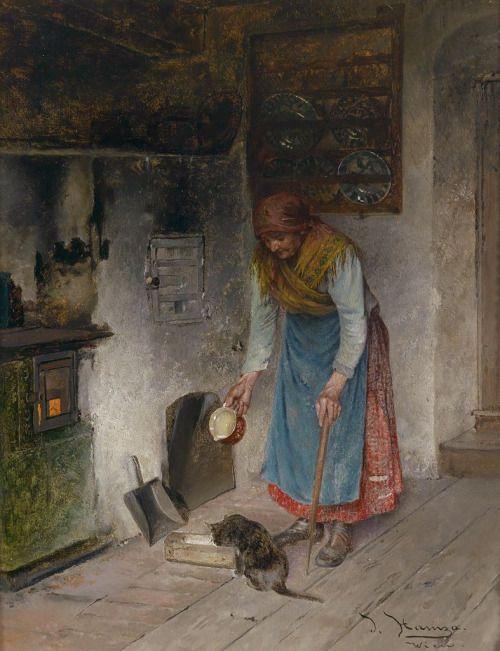 Johann Hamza ~ Milk For Her Kitten