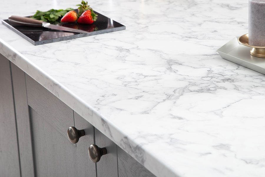 Add Luxurious Feel To Your Kitchen With This Marble Effect