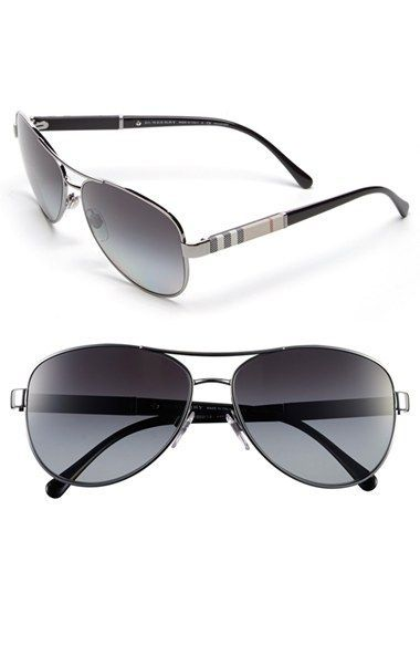676caa8c82aa Burberry  London Check  59mm Metal Aviator Polarized Sunglasses (Nordstrom  Exclusive)