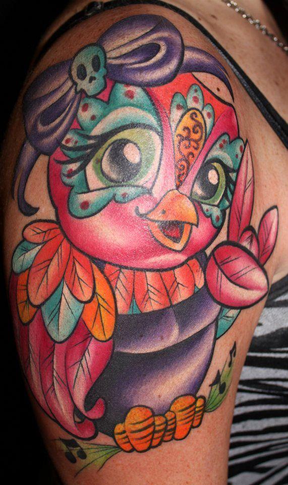 Rockstar Tattoo Owl Tattoo Bright Tattoo Jime Litwalk Tim Pangburn Myke Chambers Art Machine Productio Bright Tattoos Rockstar Tattoo Worlds Best Tattoos