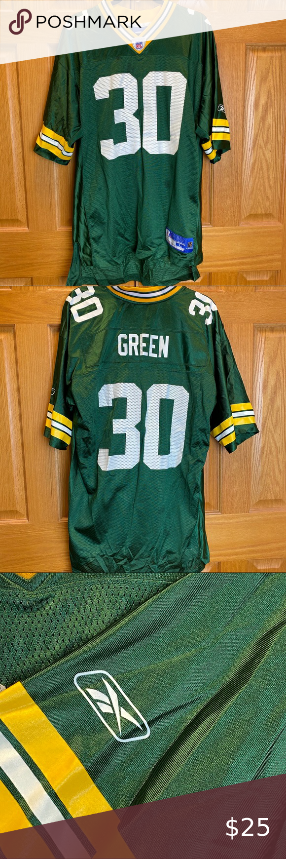 Reebok Nfl Green Bay Packers Ahman Green Jersey In 2020 Nfl Green Bay Green Bay Packers Ahman Green
