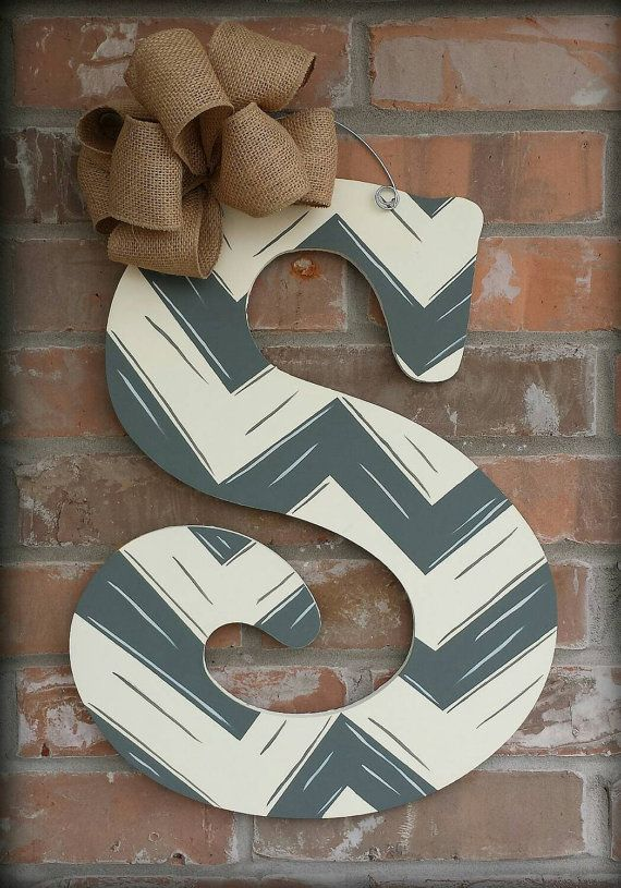 this custom hand painted letter measures 18 tall looks beautiful on your front door or hanging in your home all letters can be custom
