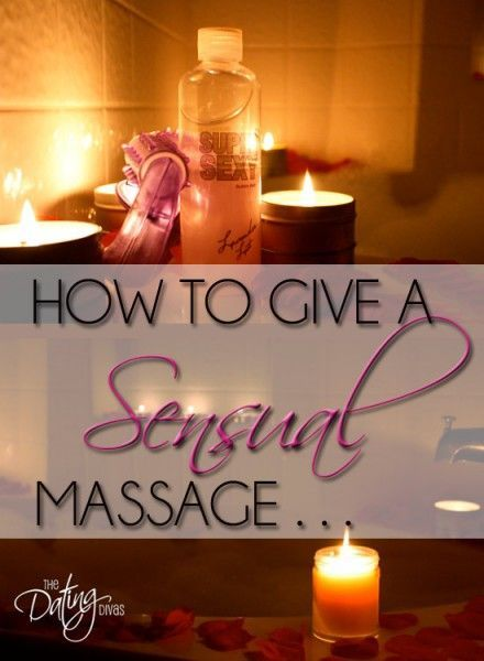 How to give a good sexual massage
