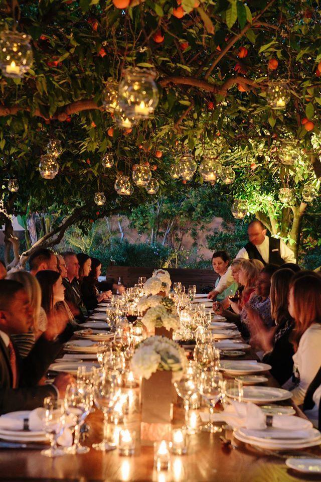 Event dinner at the Orange Grove Royal Palms Resort