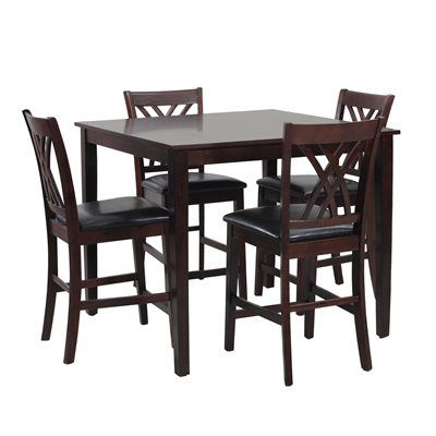 Shop Jofran 923 Dark Rustic Prairie 5 Piece Counter Height Dining