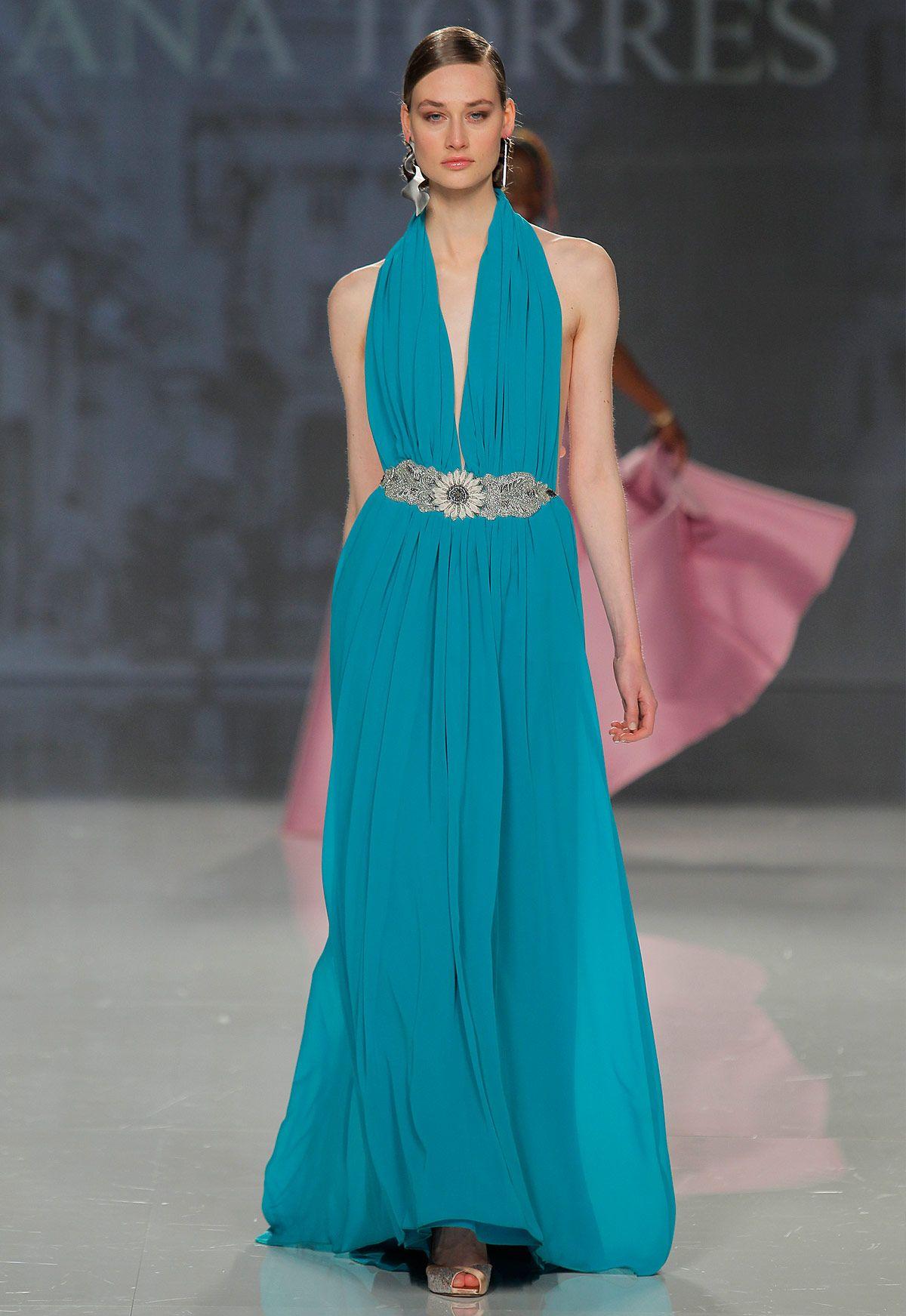 Vestido de fiesta Ana Torres colección 2018 modelo 18003A. Eva ...