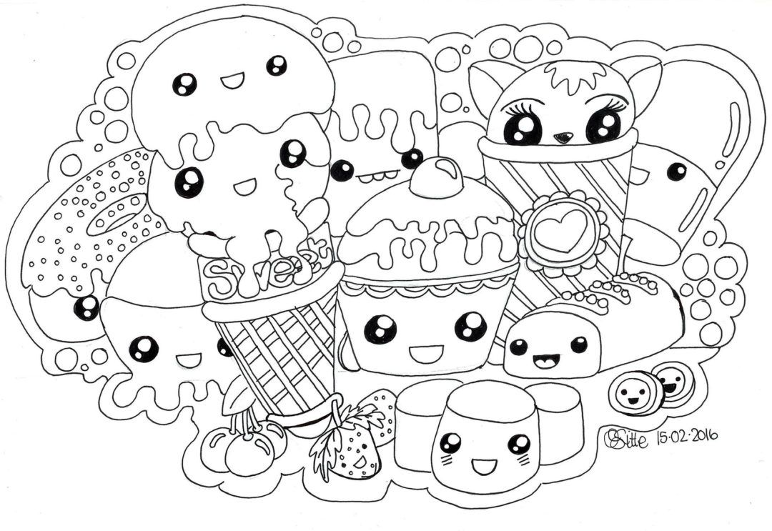 Foodies Kawaii Coloring Pages Unicorn Coloring Pages Fruit Coloring Pages Food Coloring Pages