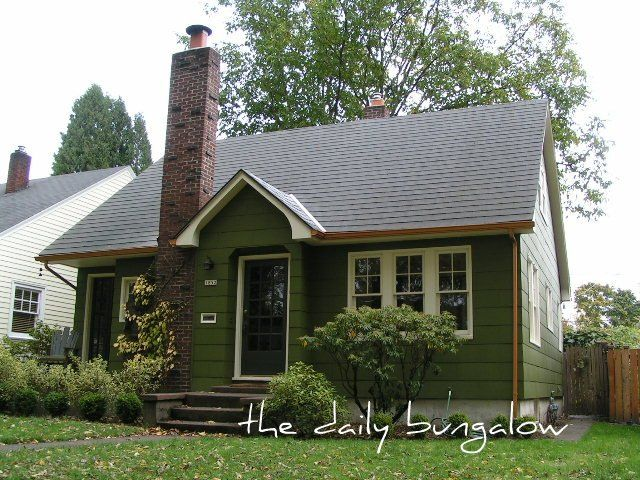 Exterior Color Schemes::Green::Paint Colors For The Historic Home