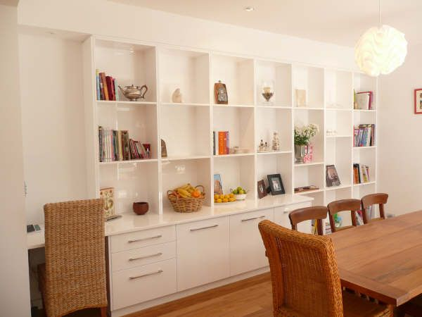 Open Shelving And Closed Storage Built