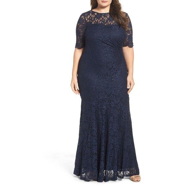 Plus Size Women\'s Decode 1.8 A-Line Stretch Lace Gown (315 AUD ...