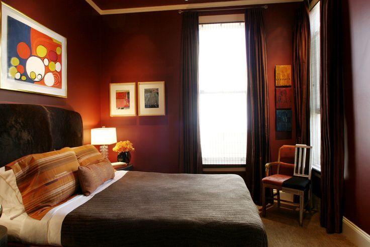 Oxblood bedroom color