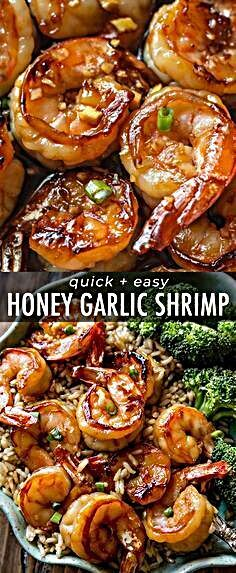 - Easy, healthy, and on the table in about 20 minutes! Honey garlic shrimp recipe on sallysbakingadd...