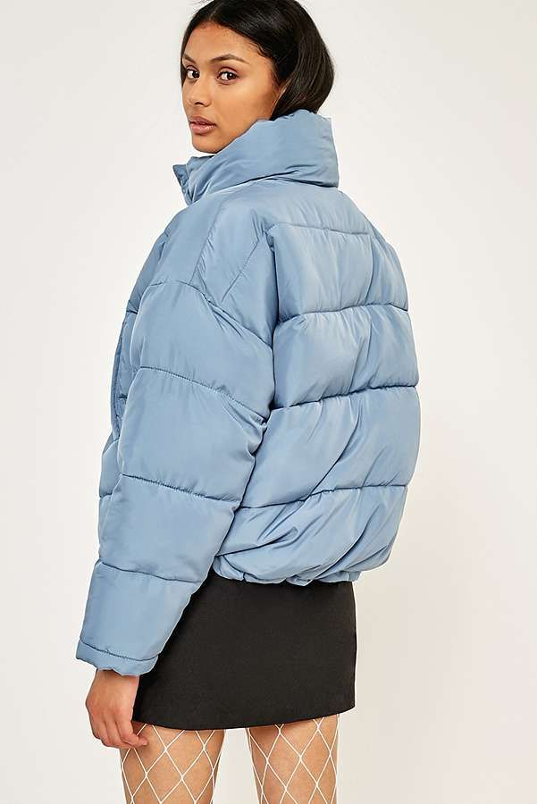 Light Before Dark Blue Pillow Puffer Jacket Casual Style