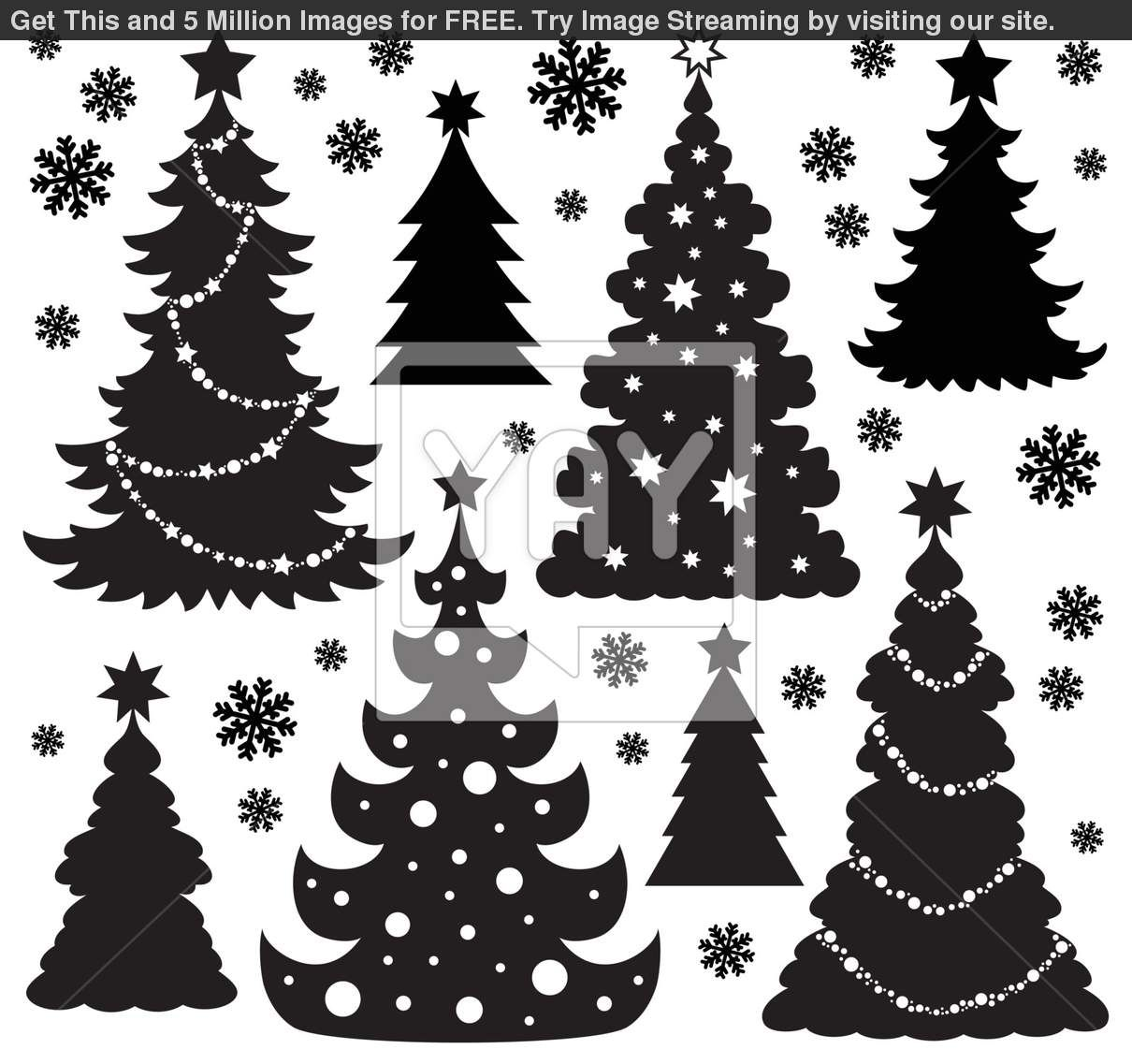 christmas silhouettes Google Search