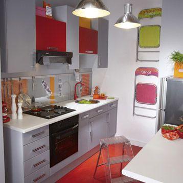 Meuble de cuisine DELINIA, composition type Délice, gris galet n°4 ...