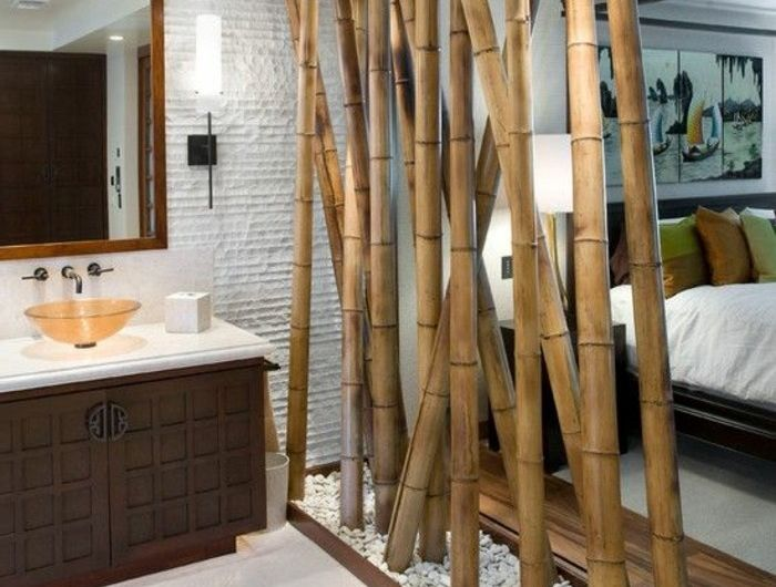 Superbe 1 Meuble Salle De Bain Bambou Pas Cher