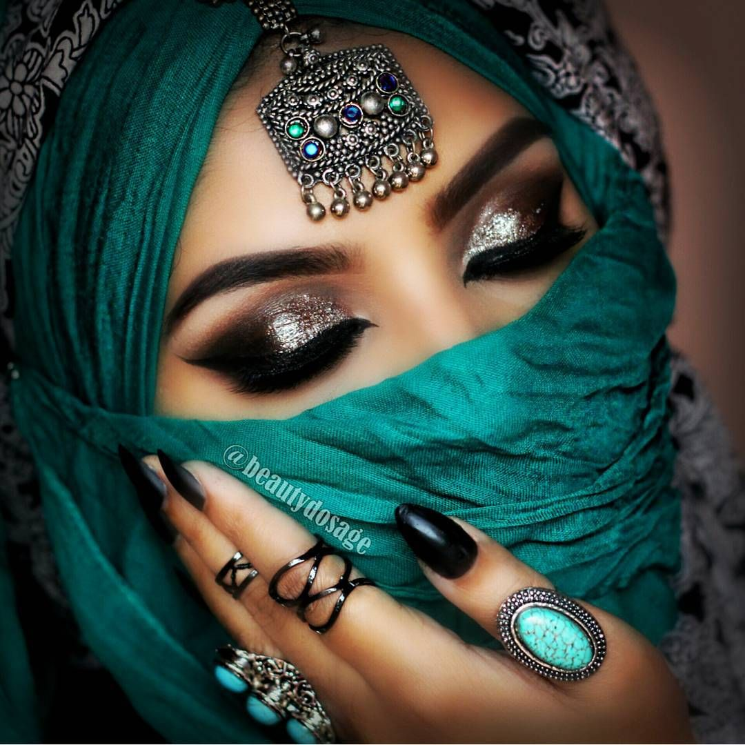 "Indian Bridal Eye Makeup: ""Todays Glittery Look"