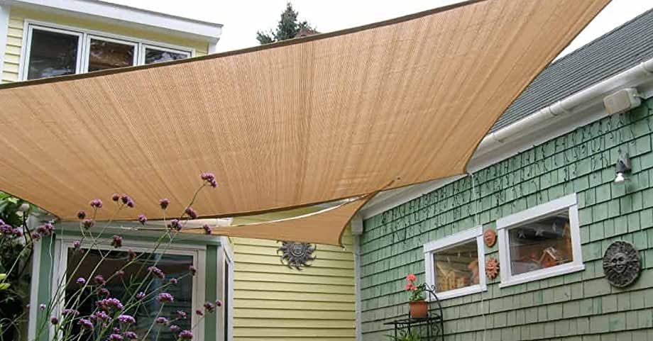 Amazon Com Love Story 6 5 X 9 10 Rectangle Sand Sun Shade Sail Canopy Uv Block Awning For Outdoor Patio Garde In 2020 Backyard Pavilion Shade Sail Sun Sail Shade