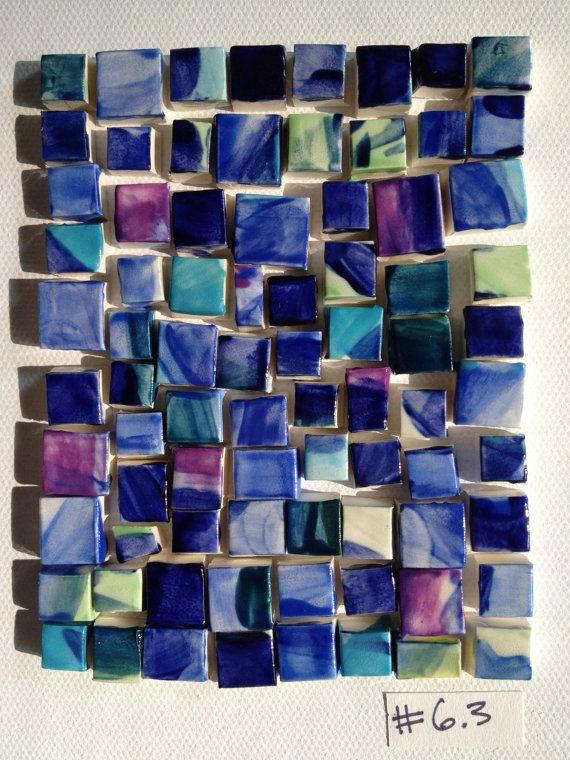 small multi squares mosaic tiles. $15.00, via Etsy.