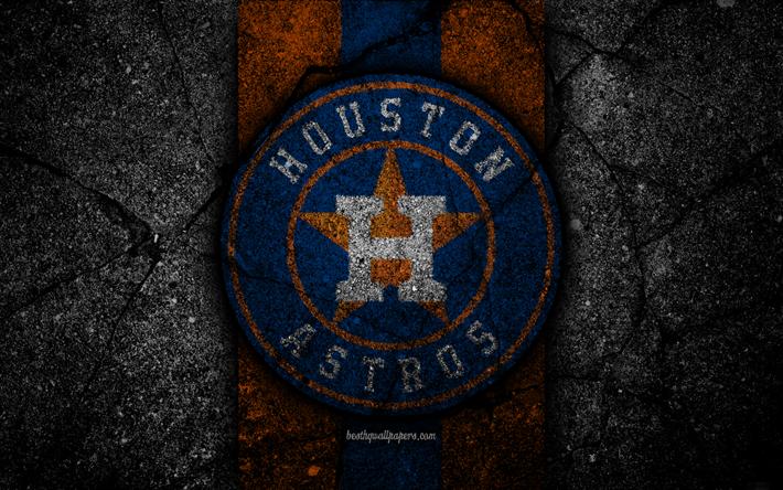 Download wallpapers 4k, Houston Astros, logo, MLB