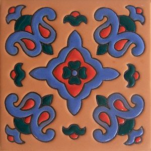 Mexican Tile Handcrafted High Relief: Rdc 09