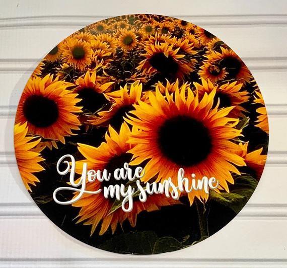 Photo of You are my Sunshine Sunflower Wreath Sign, Sunflower Wreath Sign, 8×8 Wreath Sign, Autumn Decor Wrea